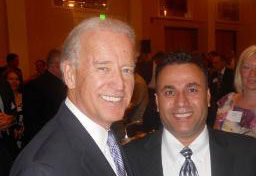 Dr. Wahid Baloch and Joe Biden 2010